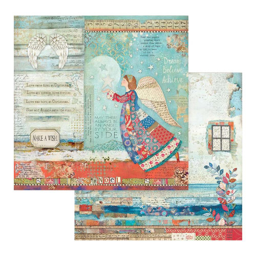 Stamperia 12x12 Christmas Patchwork Paper: 807