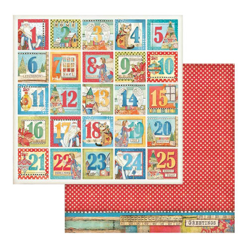 Stamperia 12x12 Christmas Patchwork Paper: 808