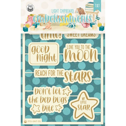 P13 Good Night Light Chipboard Embellishments