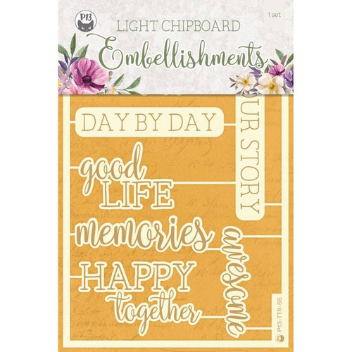 P13 Time to Relax Light Chipboard Embellishments
