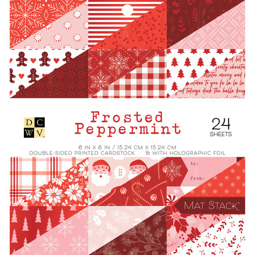 DCWV 6x6 Premium Stack: Frosted Peppermint - Holographic Foil