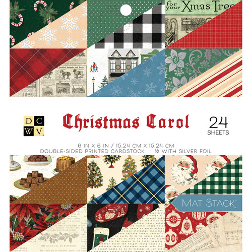 DCWV 6x6 Premium Stack: Christmas Carol - Silver Foil