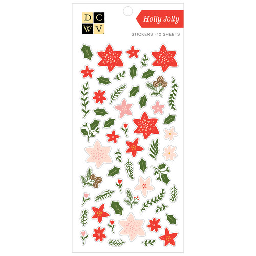 DCWV Sticker Pack: Holly Jolly - Gold Foil (10 sheets)