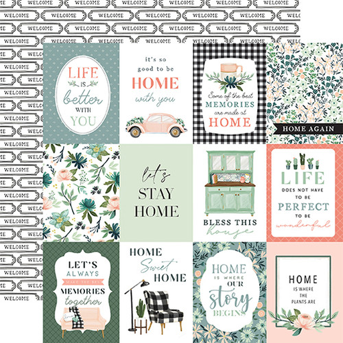 Carta Bella Gather at Home 12x12 Paper: 3X4 Journaling Cards
