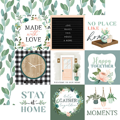 Carta Bella Gather at Home 12x12 Paper: 4X4 Journaling Cards