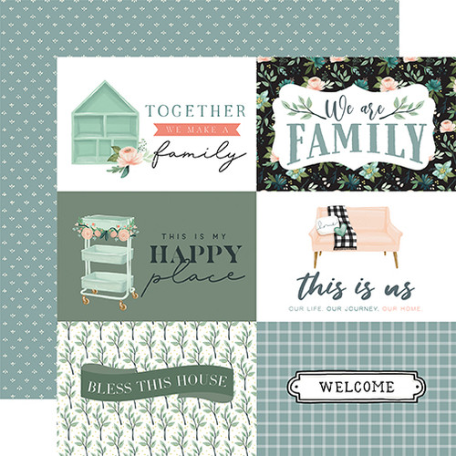 Carta Bella Gather at Home 12x12 Paper: 6X4 Journaling Cards