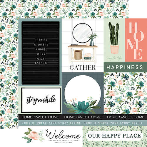 Carta Bella Gather at Home 12x12 Paper: Multi Journaling Cards