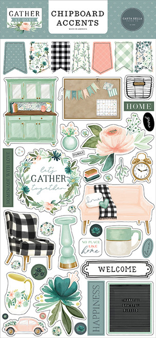 Carta Bella Gather at Home Chipboard Accents