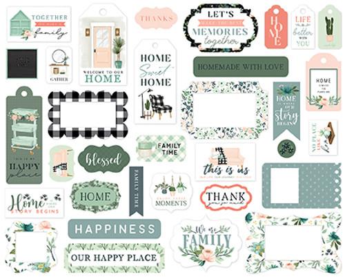 Carta Bella Gather at Home Frames & Tags
