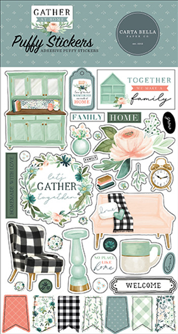 Carta Bella Gather at Home Puffy Stickers
