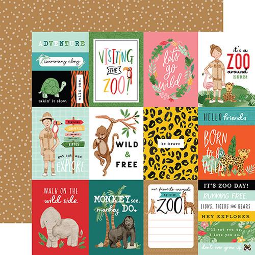 Echo Park Animal Kingdom 12x12 Paper: 3X4 Journaling Cards