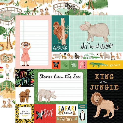 Echo Park Animal Kingdom 12x12 Paper: Multi Journaling Cards