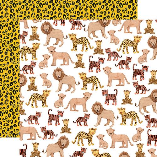 Echo Park Animal Kingdom 12x12 Paper: Feline Family