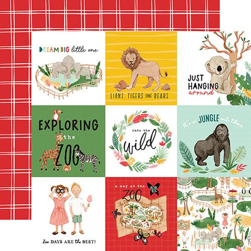 Echo Park Animal Kingdom 12x12 Paper: 4X4 Journaling Cards