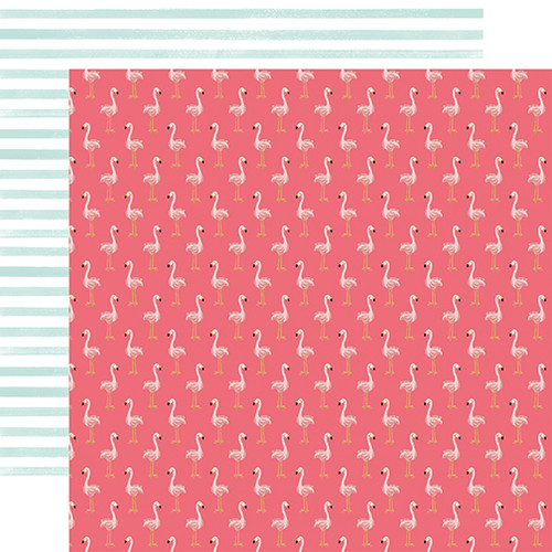 Echo Park Animal Kingdom 12x12 Paper: Flock of Flamingos