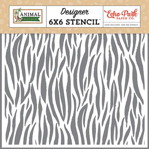 Echo Park Animal Kingdom Stencil: Zebra