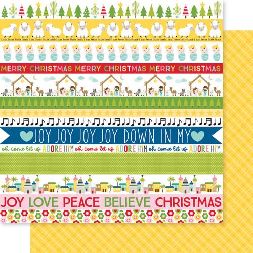 Bella Blvd Let Us Adore Him 12x12 Paper: Let Us Adore Him Borders
