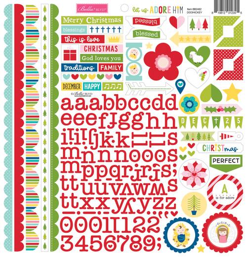 Bella Blvd Let Us Adore Him 12x12 Doohickey Cardstock Stickers