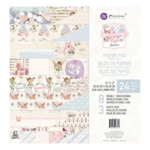 Prima Marketing Christmas Sparkle 12x12 Paper Pad