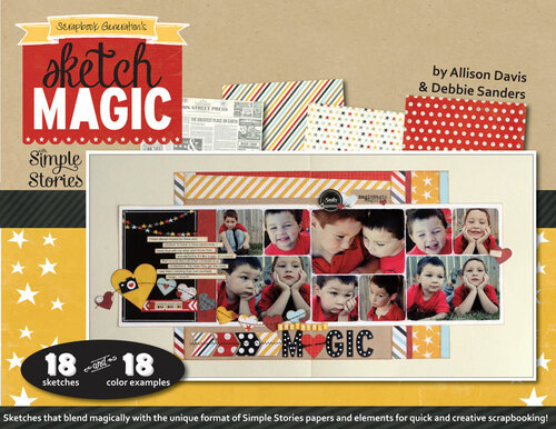 * DIGITAL DOWNLOAD * E-BOOK: Sketch Magic with Simple Stories