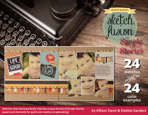 * DIGITAL DOWNLOAD * E-BOOK: Sketch Fusion with Simple Stories