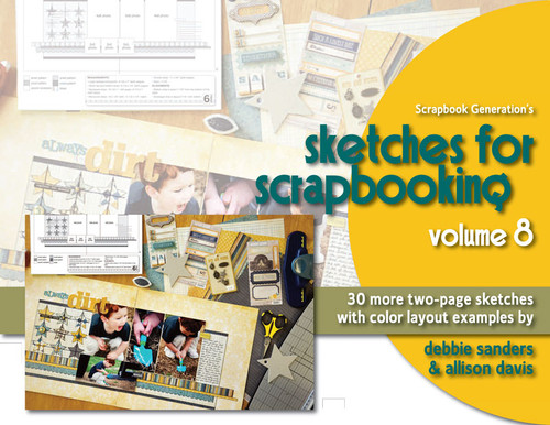 * DIGITAL DOWNLOAD * E-BOOK: Sketches For Scrapbooking - Volume 8 with Color Examples