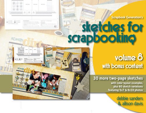 * DIGITAL DOWNLOAD * E-BOOK: Sketches For Scrapbooking - Volume 8 All-Inclusive