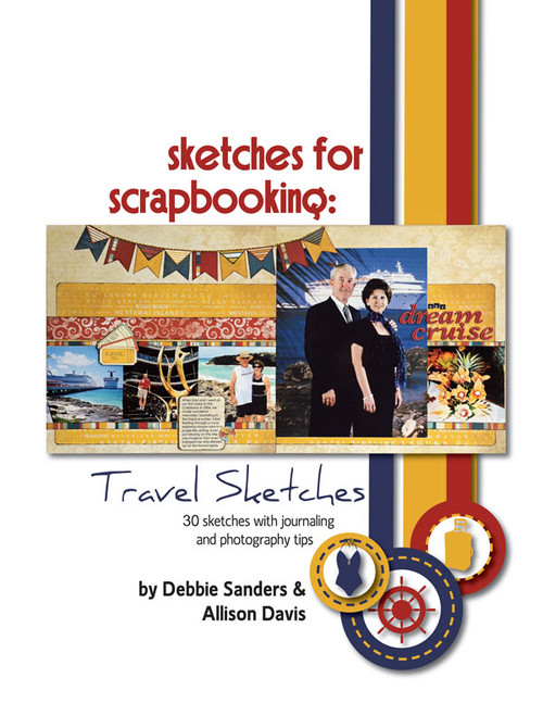 E-BOOK: Sketches For Scrapbooking - Travel Sketches (non-refundable digital download)