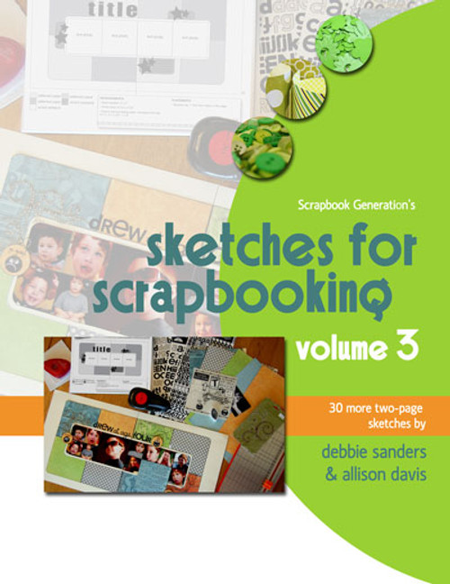 * DIGITAL DOWNLOAD * E-BOOK: Sketches For Scrapbooking - Volume 3