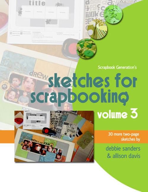 E-BOOK: Sketches For Scrapbooking - Volume 3 (non-refundable digital download)