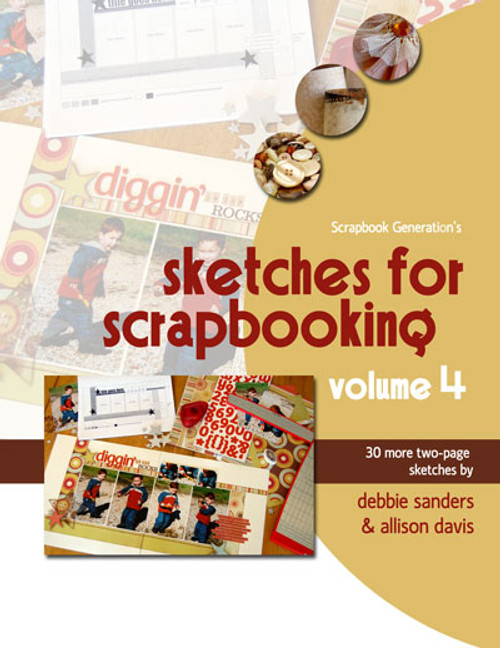 * DIGITAL DOWNLOAD * E-BOOK: Sketches For Scrapbooking - Volume 4
