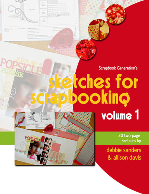 * DIGITAL DOWNLOAD * E-BOOK: Sketches For Scrapbooking - Volume 1