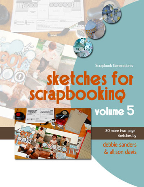 * DIGITAL DOWNLOAD * E-BOOK: Sketches For Scrapbooking - Volume 5