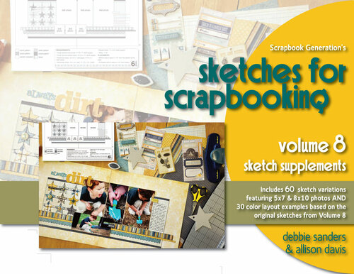 * DIGITAL DOWNLOAD * E-BOOK: Sketches For Scrapbooking - Volume 8 Sketch Supplements