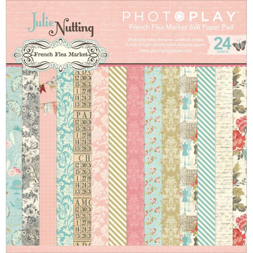 *SG SUPER BUY* PhotoPlay French Flea Market 6x6 Paper Pad