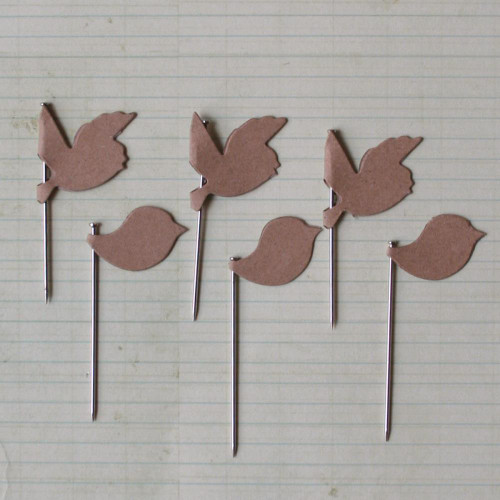 CLEARANCE | Maya Road Trinket Pins: Vintage Kraft Birds