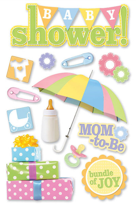 Paper House 3D Sticker: Baby Shower