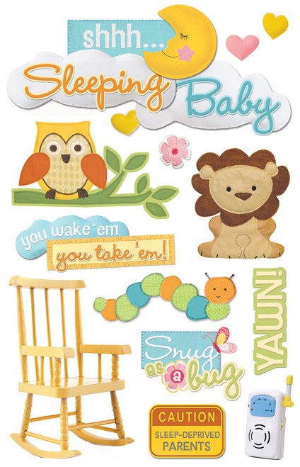 Paper House 3D Sticker: Sleeping Baby