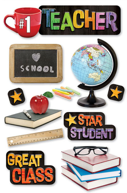 Paper House 3D Sticker: Teacher