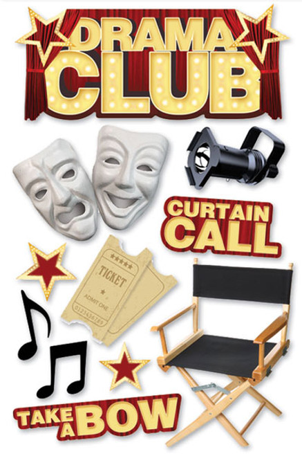 Paper House 3D Sticker: Drama Club