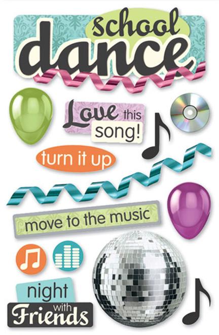 Paper House 3D Sticker: School Dance