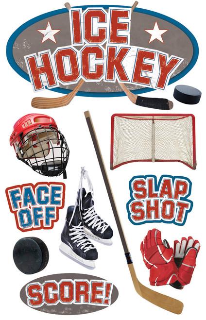Paper House 3D Sticker: Ice Hockey