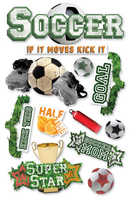 Paper House 3D Sticker: Soccer