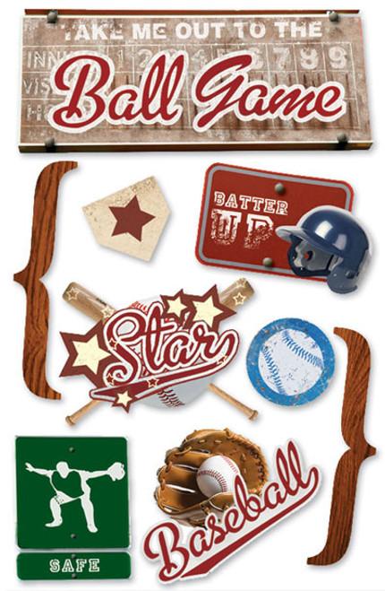 Paper House 3D Sticker: Baseball