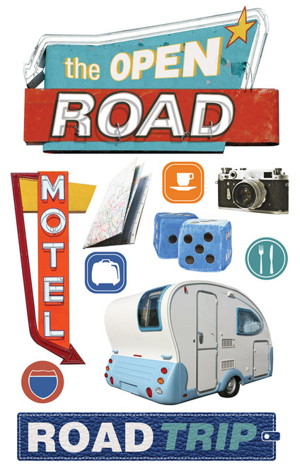 Paper House 3D Sticker: Road Trip