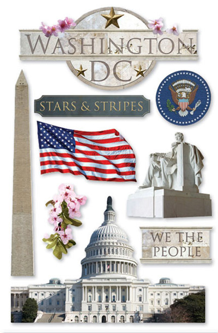 Paper House 3D Sticker: Washington DC