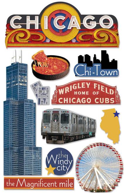 Paper House 3D Sticker: Chicago