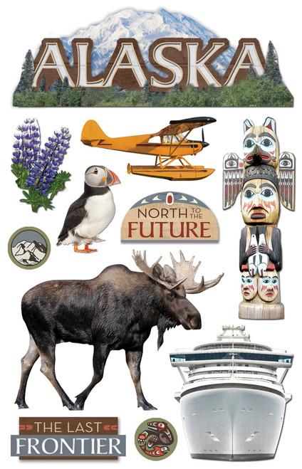 Paper House 3D Sticker: Alaska