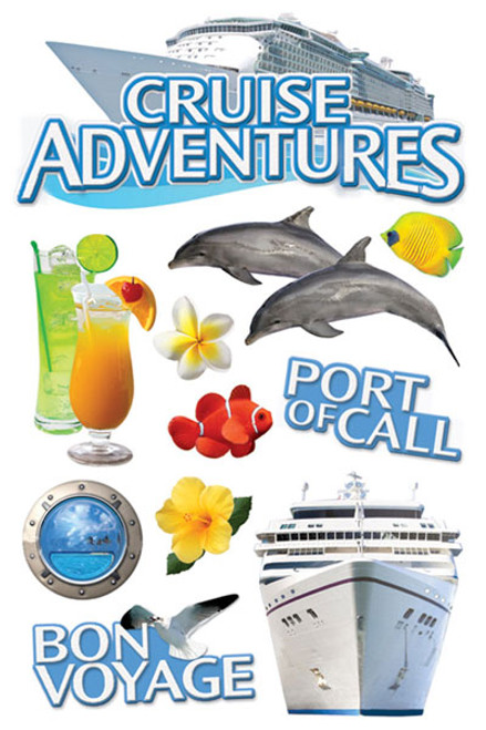 Paper House Productions 3D Stickers: Cruise Adventures