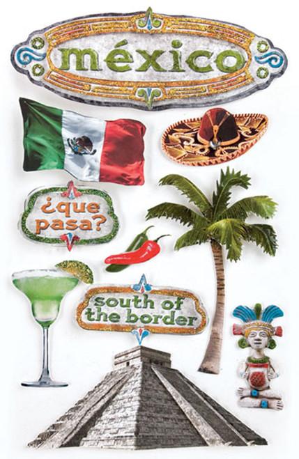 Paper House 3D Sticker: Mexico